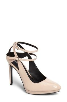 On sale in 2 colors, check out & shop the Calvin Klein Shawna Strappy Pump, available here; http://rstyle.me/~aajIF