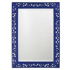 Howard Elliott Rectangle Bristol Glossy Royal Blue Mirror