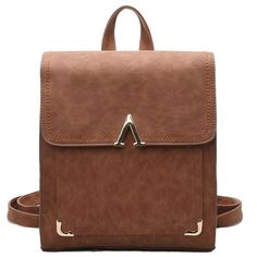How nice Retro V Shaped Leisure College Backpack Frosted PU Flap Square School Backpack ! I like it ! I want to get it ASAP!