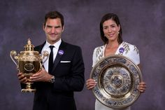 PHOTOS: Federer, Muguruza sizzle at Wimbledon Champions' Dinner. Wimbledon champions Roger Federer and Gabrine Muguruza stole the show at the Wimbledon Champions' Dinner in London on Sunday. Wimbledon 2017, Wimbledon Tennis, Wta Tennis, Tennis Tournaments, Tennis Players, Wimbledon Champions Dinner, Roger Federer Family, Tennis Legends, See You Soon