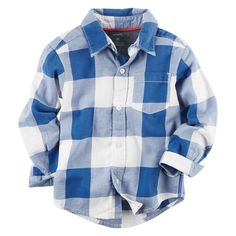 Toddler Boy Carter's Twill Plaid Button-Down Shirt, Size: 2T, Ovrfl Oth