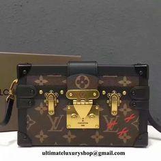 417e0f345 Authentic Quality Perfect 1:1 Mirror Replica Louis Vuitton Petite Malle  Monogram Canvas