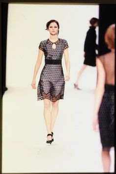 FW 2001 Black dress with pale yellow white dots #MARCtheDOT - Courtesy @Marc Camprubí Jacobs Intl