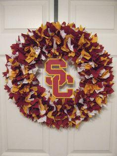 18 University of Southern California Fabric Wreath by burt7
