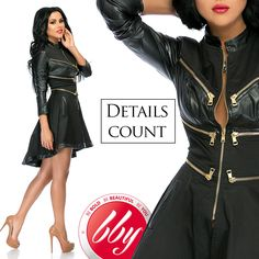 Stay trendy with Leather Outfits & chic details. Shop the Weekly New Arrivals. Leather Outfits, Passion For Fashion, Wonder Woman, Superhero, Detail, Chic, Unique, How To Make, Shopping