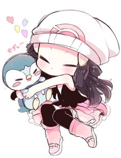 Pokemon. Dawn and Piplup