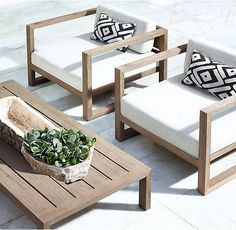 RH's Aegean Teak Lounge Chair:Influenced by the low, linear silhouettes of seaside architecture, our contemporary collection is designed by a family-owned company in Australia known for its meticulous craftsmanship. Its teak construction and simple geometry enable it to weather the elements in enduring style.