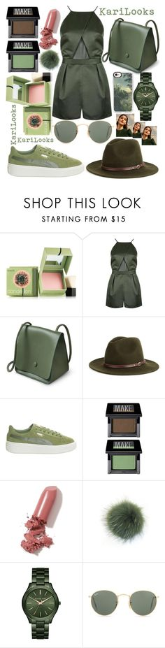 """Olive"" by karilooks ❤ liked on Polyvore featuring Benefit, Christys', Puma, Make, LAQA & Co., Bobbl, Michael Kors, Ray-Ban and Casetify"