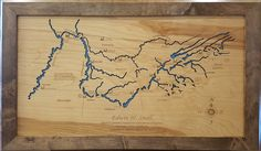 This is a beautifully detailed, laser engraved and precision cut topographical Map of Tennessee River, Tennessee Valley Authority Tennessee Map, Tennessee River, Ohio River, Tennessee Valley Authority, Blue Back, Topographic Map, Laser Engraving, Laser Cutting, Kentucky