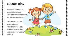CANTORES INFANTILES: CANCIÓN PARA LOS BUENOS DÍAS Preschool Spanish, Preschool Songs, Preschool Education, Spanish Classroom, Teaching Spanish, Spanish Songs, Spanish Lessons, Baby Songs, Kids Songs