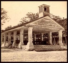THE OLD SLAVE MARKET. Here we are in Florida. This open-sided auction house is were men, women, families and children were ripped from each others arms, and sold like animals for to the highest bidder.