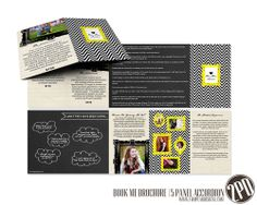 Book Me Senior Brochure by Holly McCaig at Two Pear Designs.