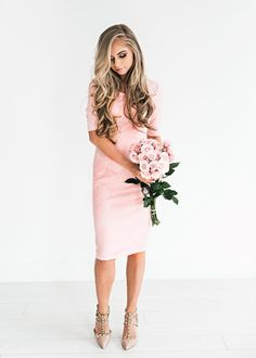French Rose Lace Dress, JessaKae, New Arrivals, Lace, Lace Dress, Pink, Cute, Womens Fashion, Womens Style, Spring, Easter, Hair, Blonde, Makeup, Hair goals, Easter Dress, Spring Dress, Flirty, Girly, Flowers Nude Shoes, Studded Heels, Heels, Comfy