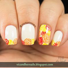 Beautiful flowers from Vic & Her Nails