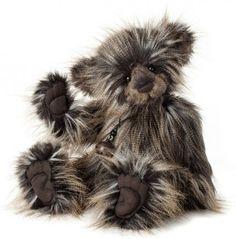 Charlie 2013 Teddy Bear by Charlie Bears is an irresistible inch Plumo teddy bear which is a combination of both plush and mohair. Charlie is a dark brown teddybear with white tips. Charlie Bears, Cute Teddy Bears, Bear Print, Bear Toy, Beautiful Creatures, Plush, Beanies, Friends, Bears