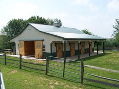 Have a small, neat barn that works well for cattle and horses.