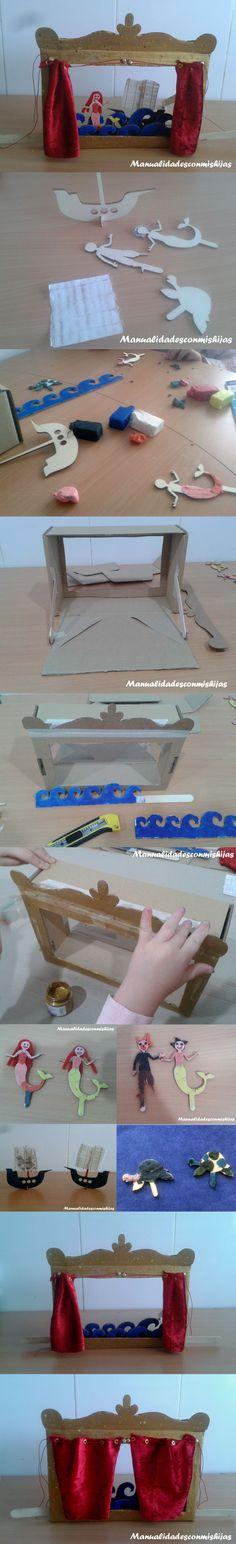 Kit didongo: Teatrillo con caja de #cartón y #plastilina