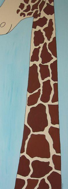 Cat Trevena giraffe. The tallest member of my jungle range. By a long way.