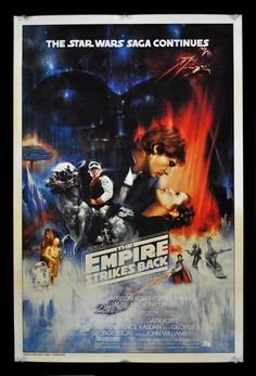 Star Wars V The Empire Strikes Back. The Empire Strikes Back Original Movie Poster 1016 x 1600 9 Really Cool Vintage Movie Posters Sci Fi Movies, Old Movies, Vintage Movies, Star Wars Poster, Star Wars Art, Comics Vintage, Vintage Posters, Cult, Movie Poster Art