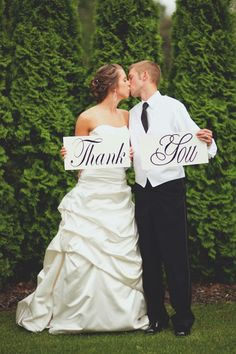 Cute idea to print your own wedding thank you notes