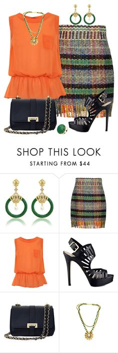 """""""Sin título #1250"""" by marisol-menahem ❤ liked on Polyvore featuring Alberta Ferretti, Miss Selfridge, GUESS and Aspinal of London"""