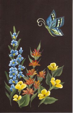 Floral Trio & Butterfly_Lori Shakman