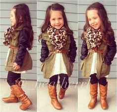 Little Girl Outfits, Cute Outfits For Kids, Little Girl Fashion, Toddler Fashion, Toddler Outfits, Kids Fashion, Fall Fashion, Outfits Niños, Fall Outfits