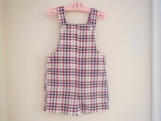 Size 3 4 Toddler Boy Vintage Orange Blue Checkered by LittleMarin