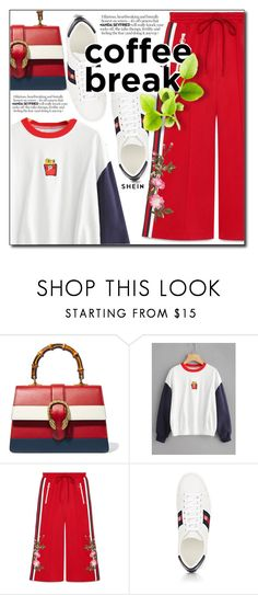 """shein"" by konstadinagee ❤ liked on Polyvore featuring Gucci"