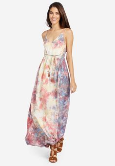 khujo KASANDRA - Maxi dress - multi-coloured for Free delivery for orders over Hippie Chic, Every Girl, Fabric Material, Casual Dresses For Women, Bunt, Homecoming Dresses, Tie Dye Skirt, Backless, Mens Fashion