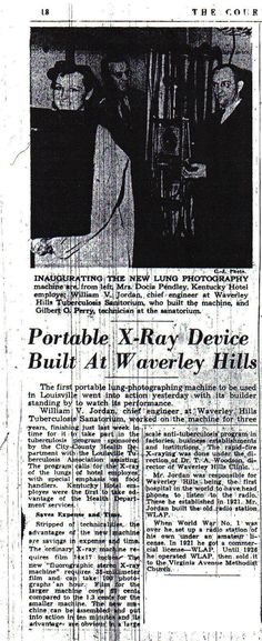 Historical Waverly Hills Article of the Month
