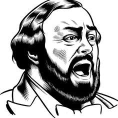 Pavarotti by Charles Burns