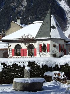 House in the town of Chamonix, France.