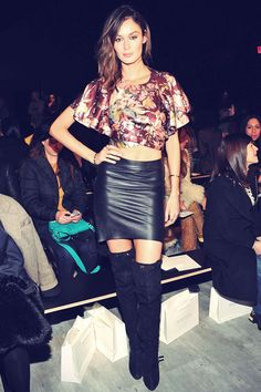 Nicole Trunfio attends Zimmermann fashion show