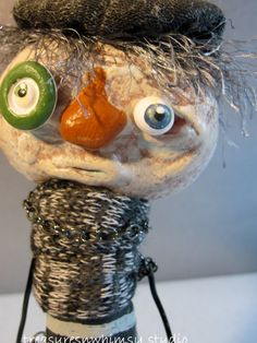 OOAK Folk Art Sculpture Whimsical Handmade by Treasuresnwhimsy