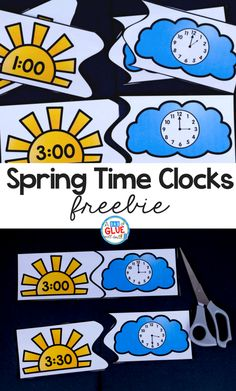If you are planning on teaching time this spring, grab these printable puzzles for kindergarten! Your teaching time clock puzzles are the perfect printable. Your kindergarteners will love processing telling time with these simple printable puzzles. Second Grade Math, First Grade Classroom, Math Classroom, Kindergarten Activities, Teaching Math, Kindergarten Freebies, Spring Activities, Preschool Math, Teaching Time Clock