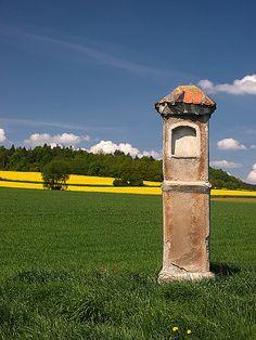 Wayside Shrine near Lower Silesia, Braszowice - Grochowa, Poland Chapelle, My Heritage, Krakow, Public Art, Serenity, Catholic, Niches, Statue, Alters