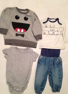 H&M Jeans (68), Body (68), Pulli (74), Next Shirt #bestlittlebrother
