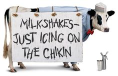 Try one of our milkshakes today! Chik Fil A Cow, Cow Pictures, Cow Pics, Eat More Chikin, Cow Wallpaper, Cute Cows, Grief, Girl Birthday, Milkshakes