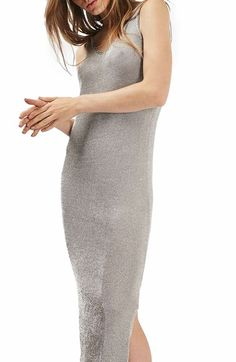 Topshop Metallic Slipdress available at #Nordstrom