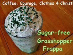 Sugar-free Grasshopper Frappa (fuel pull or S)