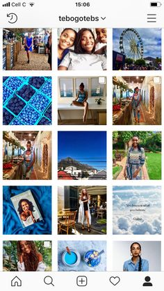 Blue Instagram theme
