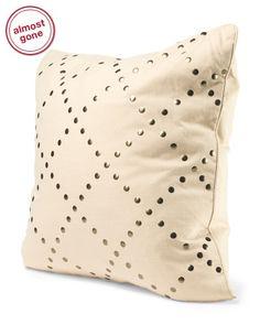 Lattice Studded Pillow