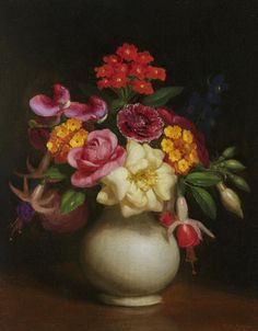 George Henry Hall - Floral Still Life offered by Debra Force Fine Art on InCollect Hudson River School Paintings, Henry Hall, George Henry, Painting Still Life, Oil On Canvas, Fine Art, Artist, Floral Paintings, 19th Century