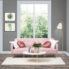 Pinkki on aina pop! 😍 Vai mitä olet mieltä? 😉  Pirteän värinen Ronja taipuu tarvittaessa myös vierasvuoteeksi. 😊 Love Seat, Couch, Furniture, Home Decor, Settee, Decoration Home, Room Decor, Small Sofa, Sofas