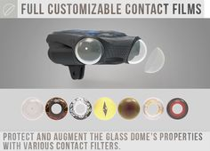 FULL CUSTOMIZABLE CONTACT FILMS PROTECH AND AUGMENT THE CLASS DOME'S PROPERTIES WITH VARIOUS CONTACT FILTERS.