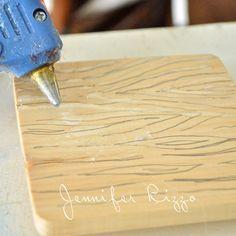 How to make a  hot glue gun faux bois stamp 2