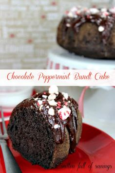 Chocolate Peppermint Bundt Cake great for Holiday baking! #peppermint #holidaybaking #recipes http://www.amittenfullofsavings.com/chocolate-peppermint-bundt-cake/