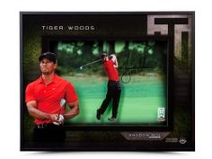 Tiger Woods Autographed 'Approach' 16 x 20 Shadow Box- $1,599.99