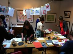 A printing workshop...from 2012
